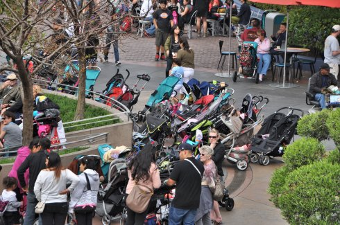 Strollers. If you've ever been there, you know what I'm talking about.