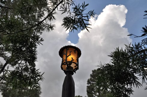 I liked the way this photo turned out, of a lantern against the sky.