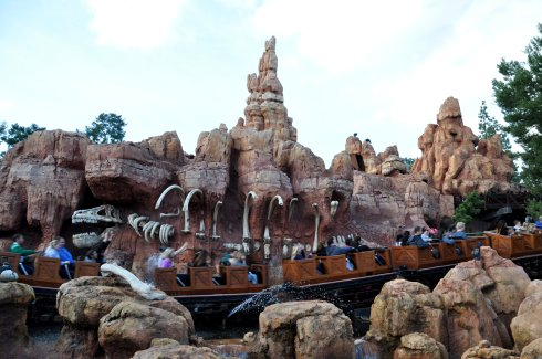 Big Thunder Mountain railroad has been reopened and is really exciting, including an accidental TNT explosion as part of the ride!