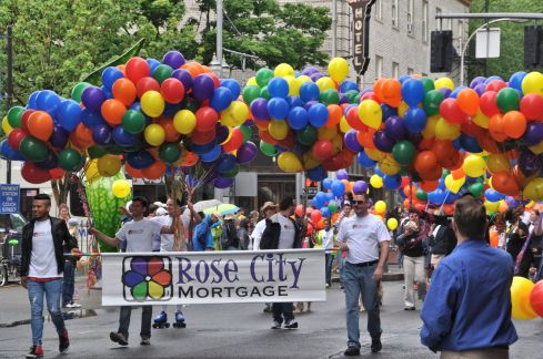 Rainbow Balloons are required at Pride Parade