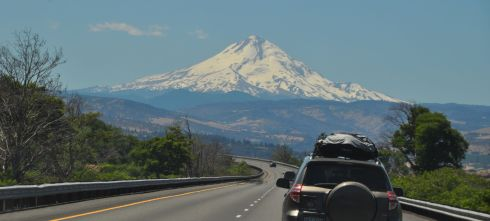 Mt. Hood from I-84 in the Columbia Gorge