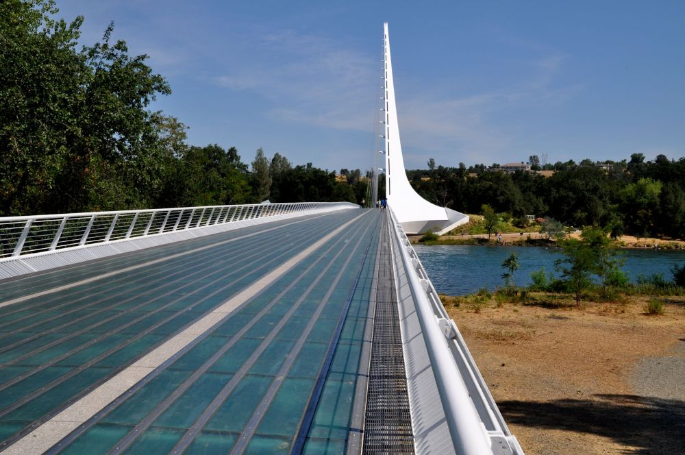 Sundial Bridge at the Turtle Bay Exploration Park in Redding, California.
