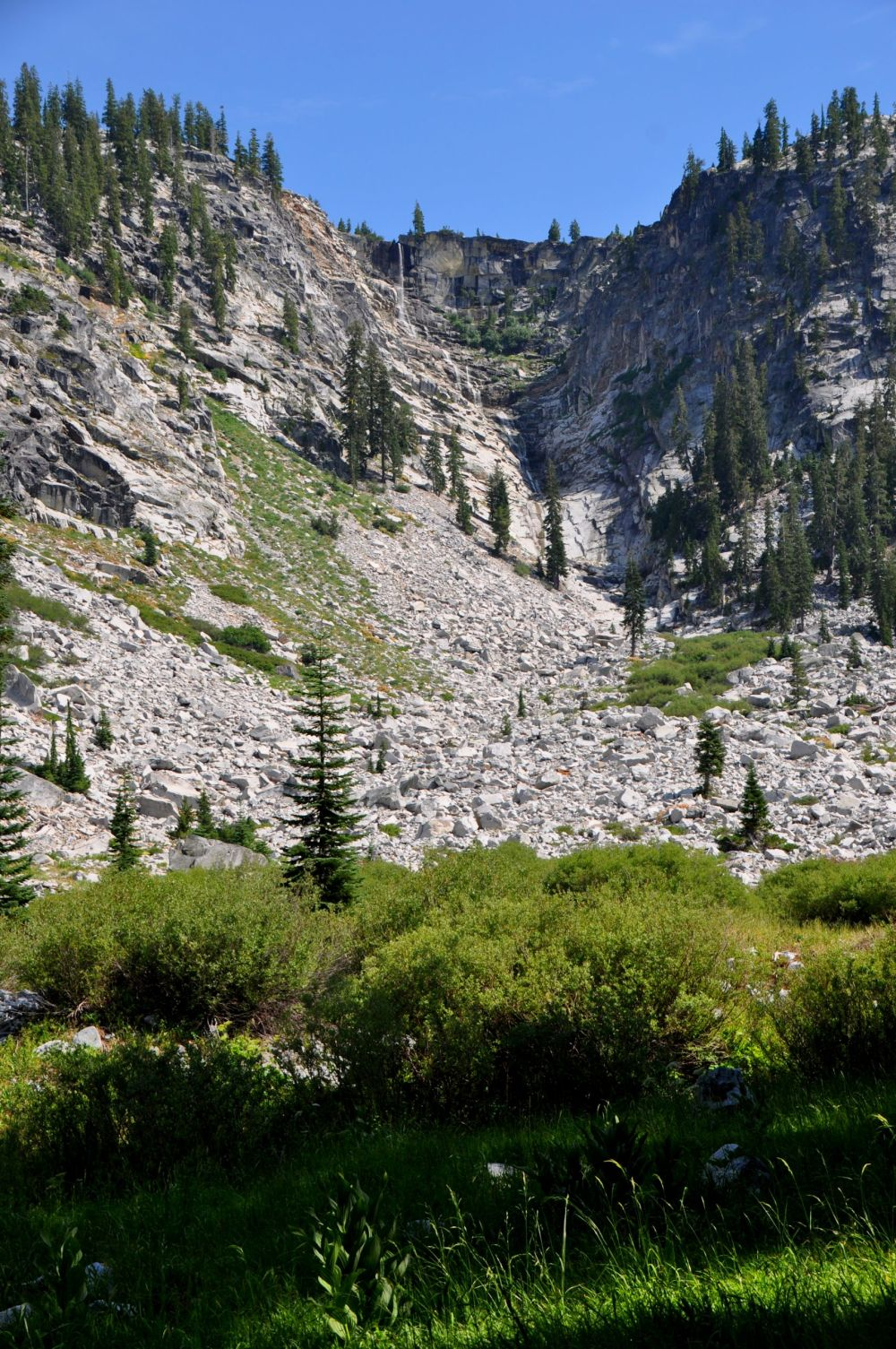 """This is the last mile of trail. Bernstein writes, """"The trail's slope occasionally exceeds 100% and approaches infinity in a couple of spots."""" Ha, ha."""