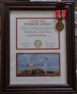Cherokee Warrior Award