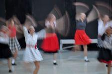 blurry swing dance