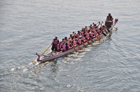 Paddlers of the Pink Phoenix team - all breast cancer survivors!