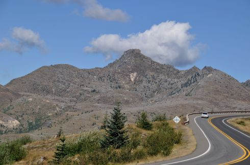 Closer to the mountain, more evidence of the volcanic eruption can be seen.