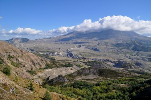 This is Mt. St. Helens when I arrived at the Observatory.