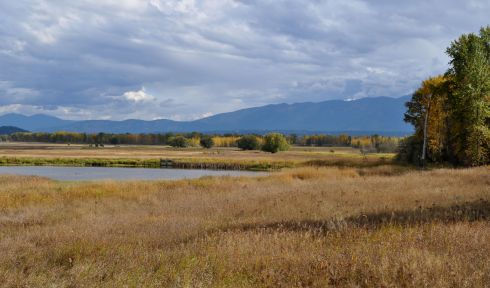 The Kootenai National Wildlife Refuge west of Bonners Ferry, Idaho