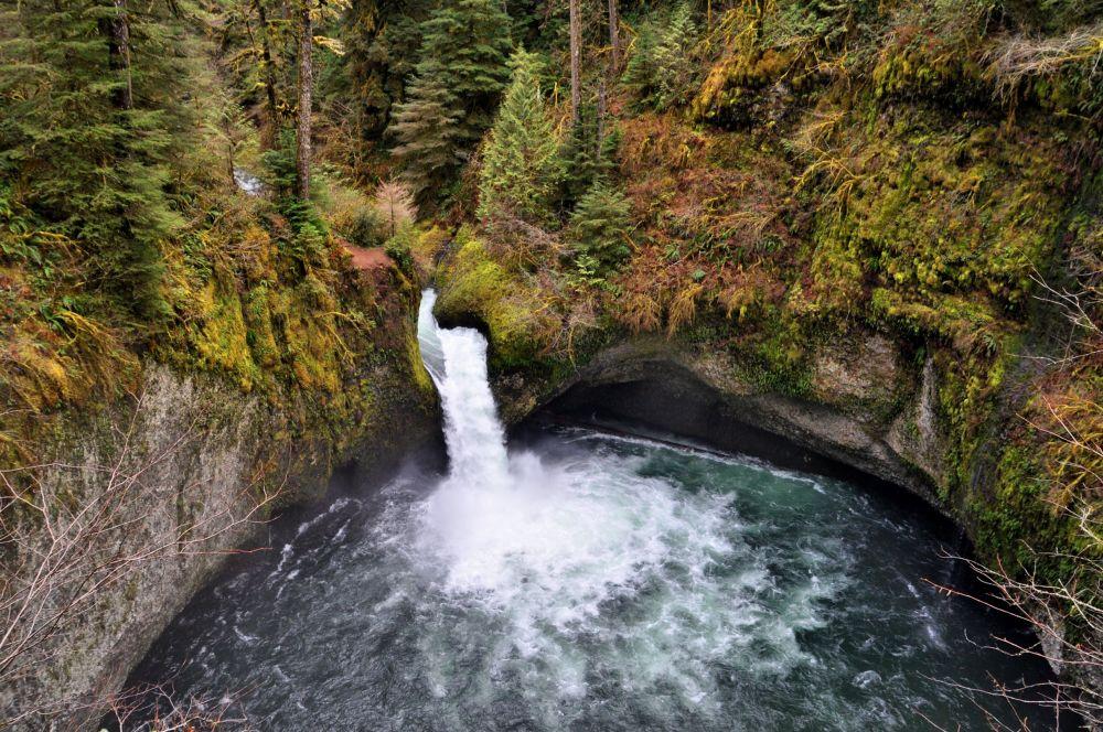 Punchbowl Falls along Eagle Creek trail