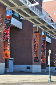 Home of the Beavers! OSU and UO are sports rivals, as nearby Universities always are.