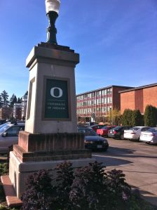 "UO does a better job with branding. The signature ""O"" is everywhere."
