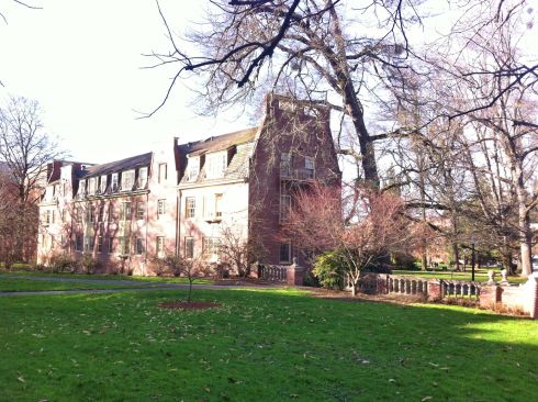 These UO campus buildings remind me of the Harvard campus.