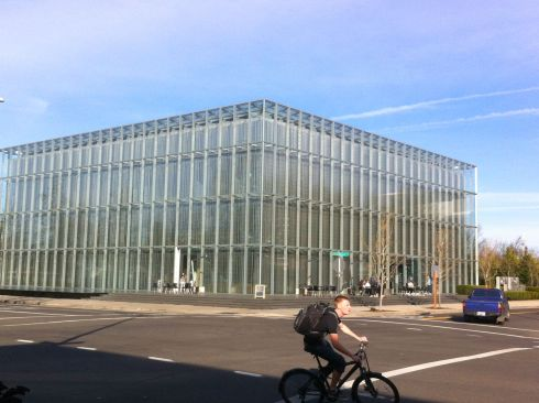 Very cool glass building at UO.