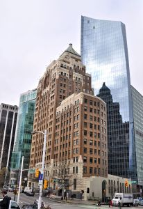 Marine Building with the MNP Tower behind it.