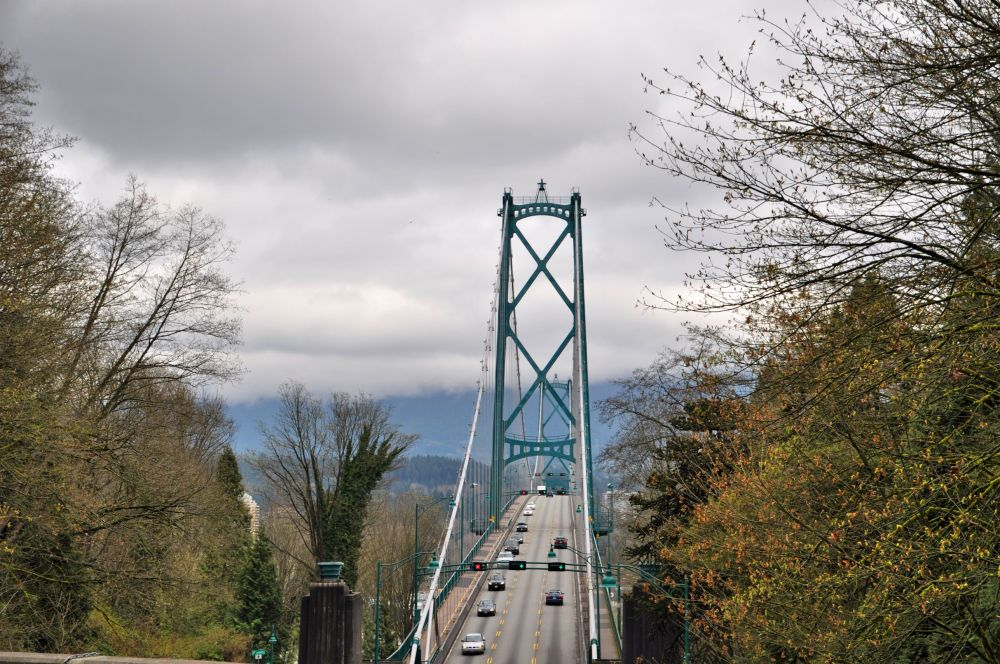 The Lion's Gate Bridge in Stanley Park
