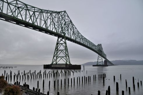 Astoria-Megler Bridge from Oregon to Washington. We took this bridge and soon began the Washington leg of the trip.