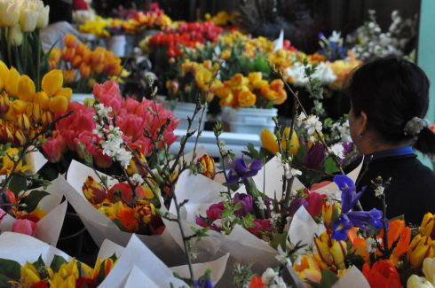 Flowers at the market.