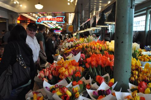 Springtime colours at Pike Place Market.