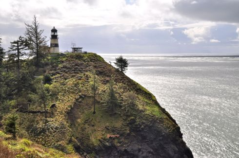 The lookout at Cape Disappointment. At the northernmost point of the mighty Columbia, it was strangely named in 1788 by John Meares, expressing his chagrin at not being able to find the Columbia River.