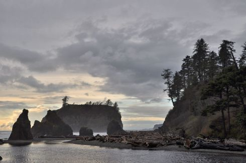 Fabulous sea stacks at Ruby Beach