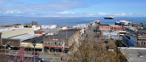 View of Port Angeles from a high point we found after breakfast/lunch.