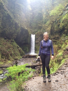 This is me in front of the waterfall in the shot right above.