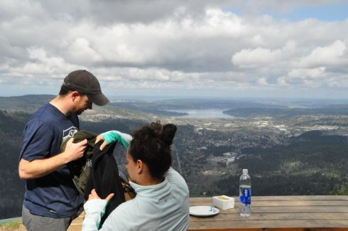 We had a picnic at the top. Can you believe the trailhead to this incredible overlook is 30 minutes from the Space Needle?