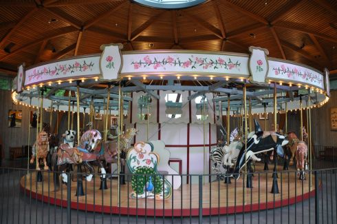 The Carousel. Look at those wonderful animals!