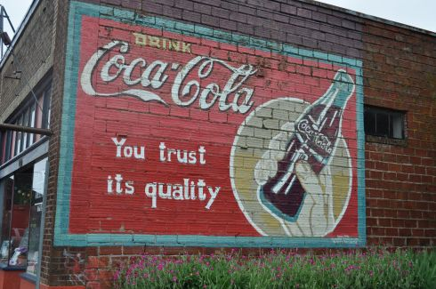 Here someone has salvaged an old Coke advertisement.