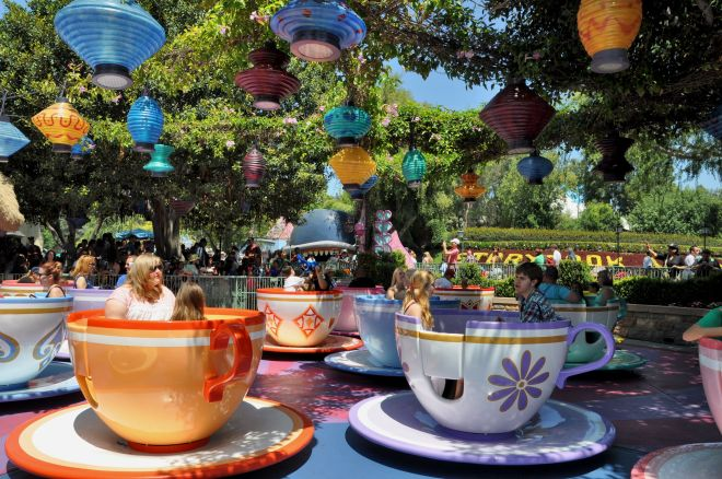 The Mad Tea Party's tea cups have been spinning since opening day in 1955, bringing us six decades of motion sickness.