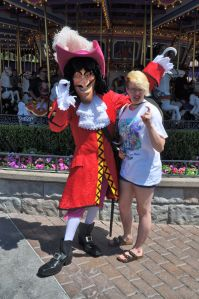 Captain Hook and Tara were both in good spirits, flashing their hooks.