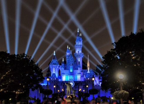 Castle all lit up for the 60th diamond anniversary celebration. It truly is a magical place.