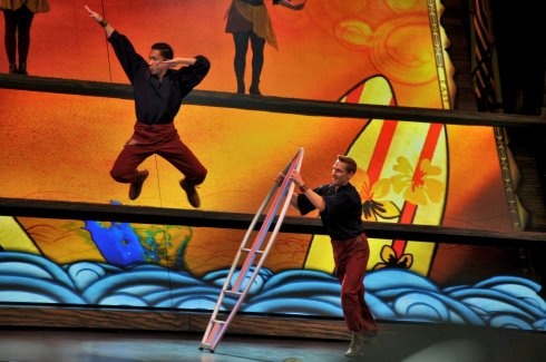 These dancers leapt through the air, launched from stylized surfboards in a piece from Lilo and Stitch, another of my top 5 Disney movie faves.