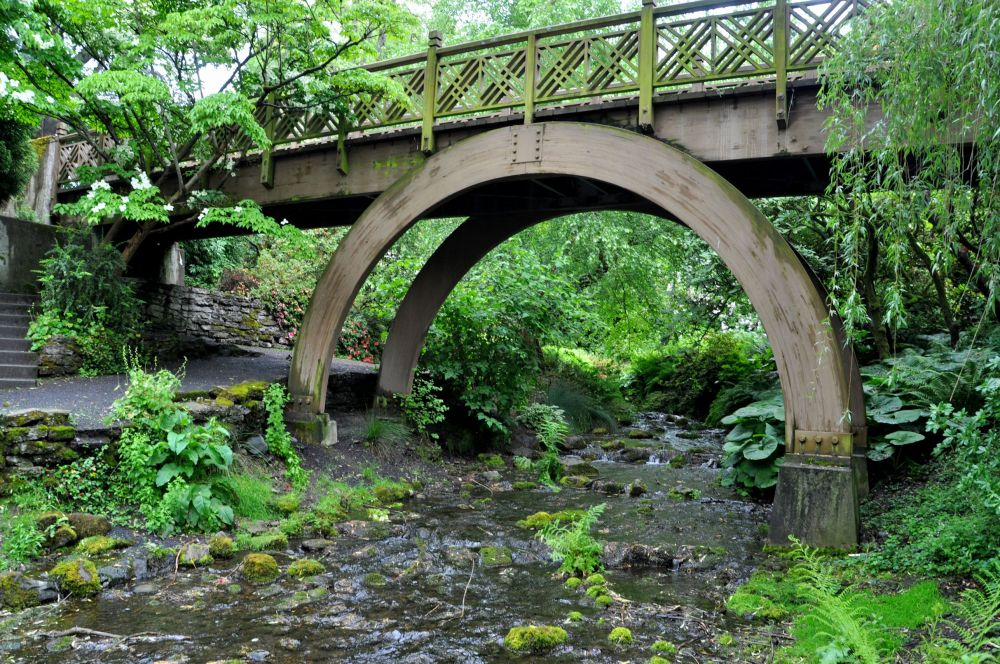One of the bridges in the garden.