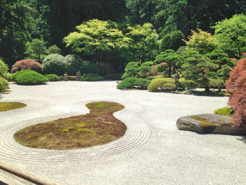 The Flat Garden (hira niwa) is a central focus of the garden, beside the pavillion.