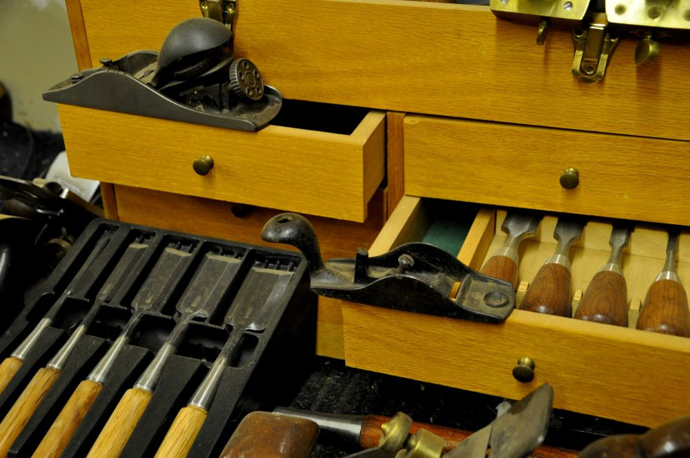 Tools waiting to be called upon.