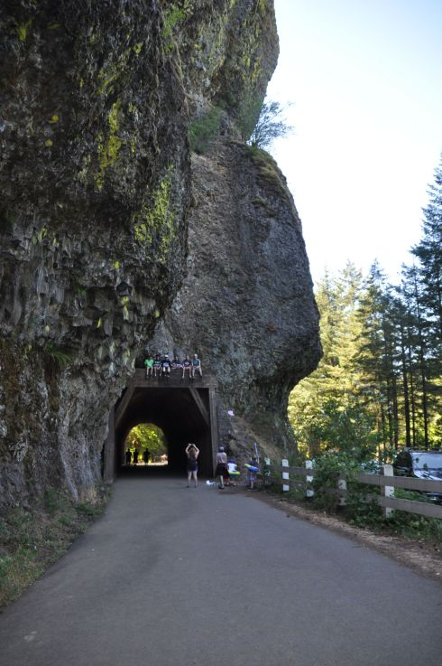 The recently opened Oneonta Tunnel is a great photo op for adventurous people who want to climb to the top. This old tunnel was built for the original Columbia River Highway around 1920.