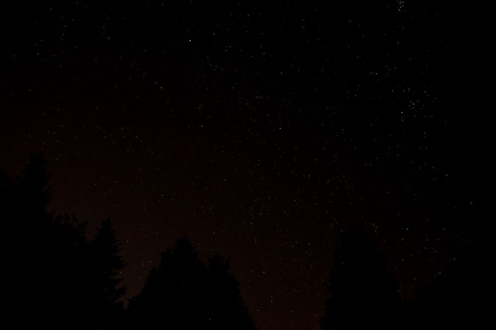 The starry sky from Crystal's place. Photo credit: Tech Support, friend, chicken-catcher and house-sitter.