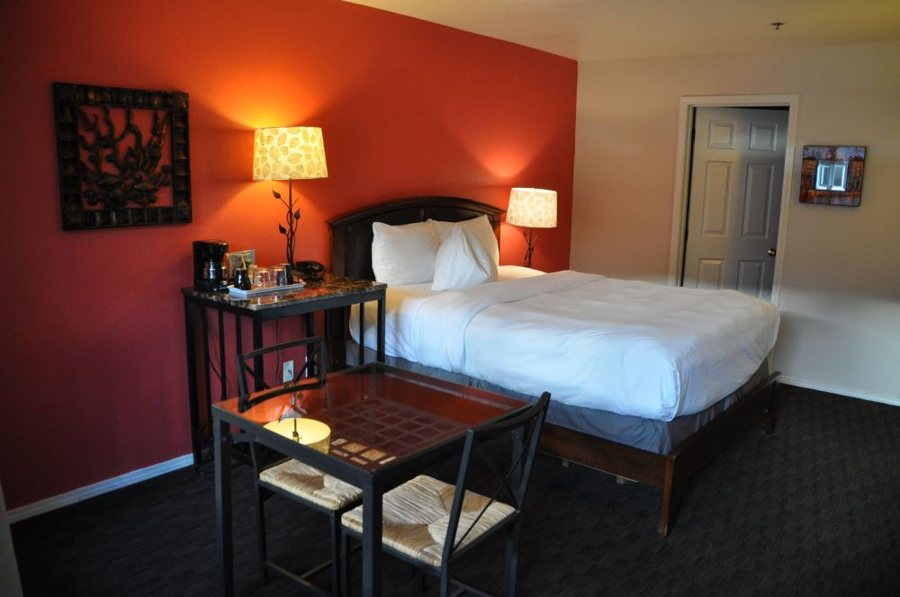 My beautiful room, right downtown, for $89 (a steal for a tourist town during Oktoberfest).