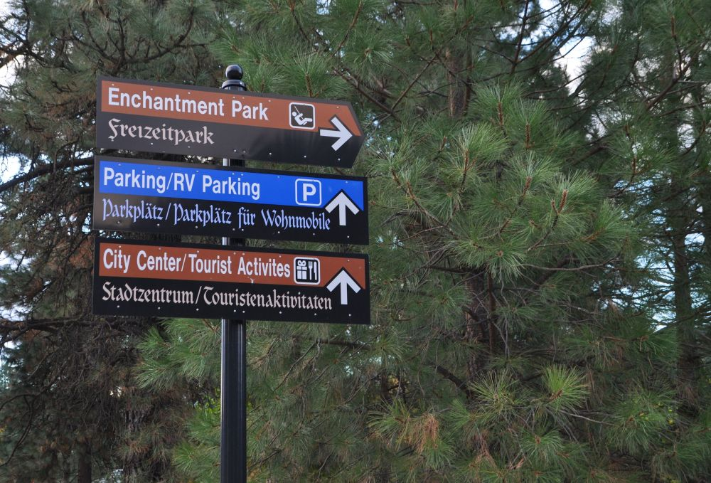 Even the signs are in German!