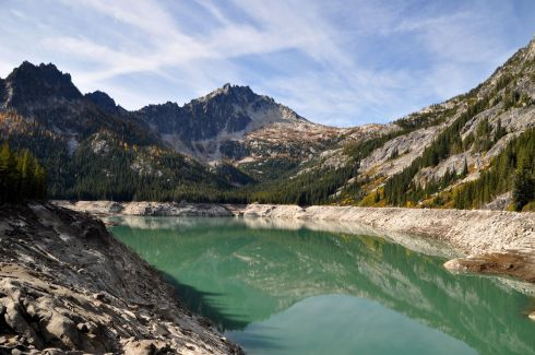 Upper Snow Lake - drastically diminished due to feeding the crops and salmon in the valley.