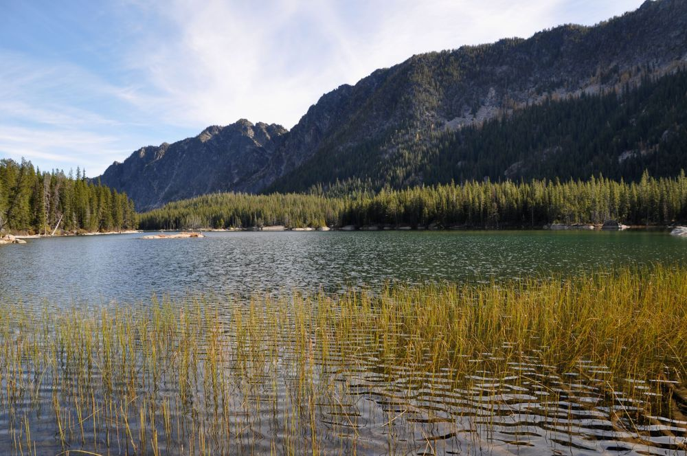 Lower Snow Lake is at normal levels, since it is not part of the Fish Hatchery system.