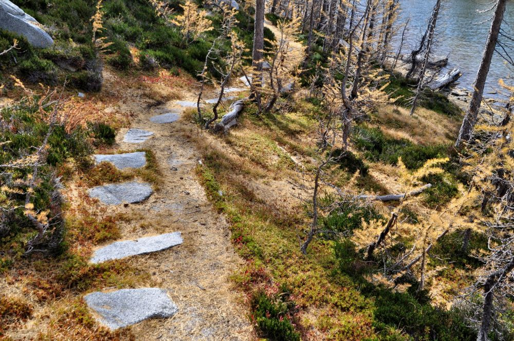At least there were no horrible cairns. Look at this trail. Wouldn't you expect it to look like this at Leprechaun Lake?
