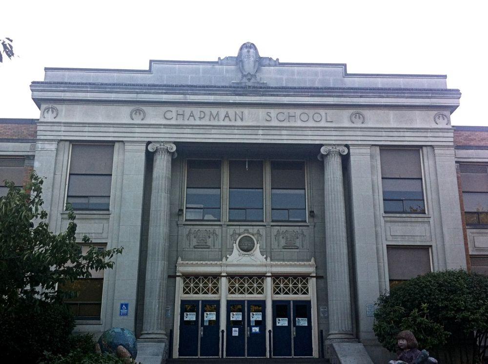 The beautiful old Chapman School.