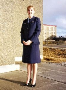 Dressed in my blues, sometime in the Spring of 1991. Just after the swift conclusion of the first Gulf War.