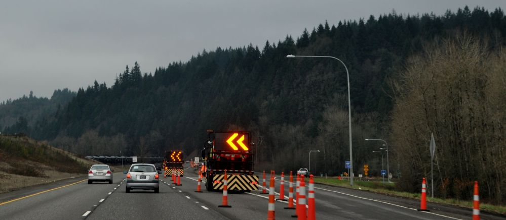 This is how I-5 looks now, at mile post 23.