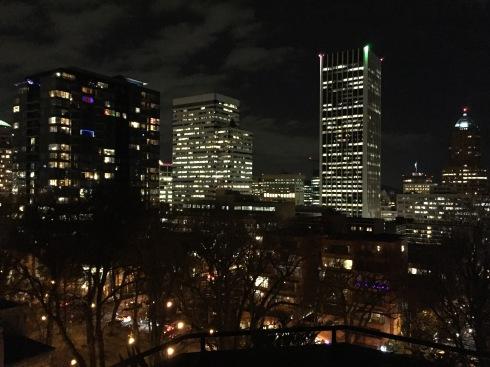 Christmas lights of Portland.