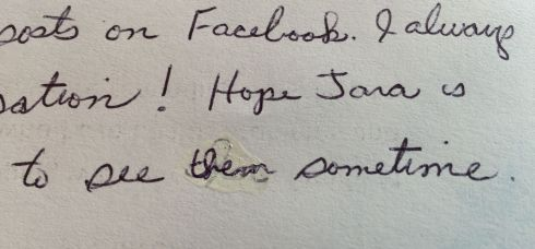 This was the hand-written message at the bottom of a Christmas letter from my Great-Aunt. It brought tears of gratitude to my eyes.