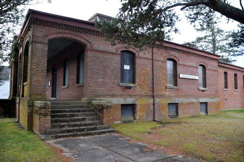 Past the guardhouse